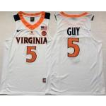Virginia Cavaliers White #5 GUY