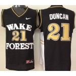Wake Forest Demon Deacons black #21 Duncan jersey