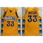 NCAAB Marquette Golden Eagles #33 Jimmy Butler Yellow College Basketball Jersey