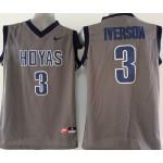 Georgetown Hoyas Iverson #3 gray jersey