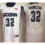 Uconn Huskies White #32 Hamilton jersey