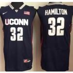 Uconn Huskies Blue #32 Hamilton jersey