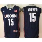 Uconn Huskies blue #15 Walker jersey