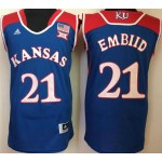 Kansas Jayhawks Blue #21 Embiid jersey