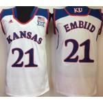Kansas Jayhawks white #21 Embiid jersey