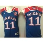 Kansas Jayhawks Blue #11 Jackson jersey