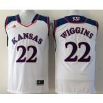 Kansas Jayhawks white #11 Wiggins jersey