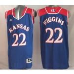 Kansas Jayhawks Blue #11 Wiggins jersey