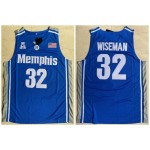 NCAAB Memphis Tigers #32 James Wiseman Blue College Basketball Jersey