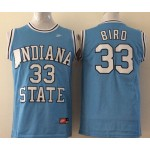 Michigan State Spartans Bird #33 sky blue jersey