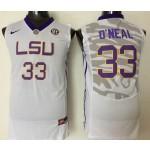 LSU Tigers White #33 O'Neal jersey