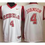 University of Nevada Las Vegas White #4 Johnson jersey