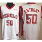 University of Nevada Las Vegas white #50 Anthony jersey
