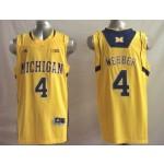 Michigan Wolverines Yellow #4 WEBBER