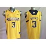 Michigan Wolverines Yellow #3 BURKE