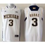 Michigan Wolverines White #3 BURKE