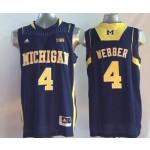 Michigan Wolverines Blue #4 WEBBER