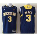 Michigan Wolverines Blue #3 BURKE