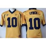 California Golden Bears gold #10 Lynch jersey