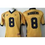 California Golden Bears gold #8 Rodgers jersey
