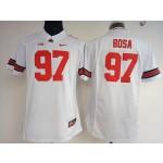 Women Ohio State Buckeyes Bosa #97 white jeresy