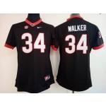 Womens Georgia Bulldogs Black #34 Walker jersey