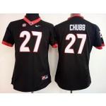 Womens Georgia Bulldogs Black #27 Chubb jersey