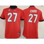 Womens Georgia Bulldogs Red #27 Chubb jersey
