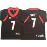 Youth Georgia Bulldogs Black #7 SWIFT