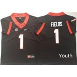 Youth Georgia Bulldogs Black #1 FIELDS