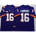 Clemson Tigers Purple #16 LAWRENCE