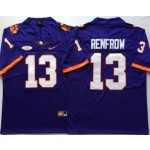Clemson Tigers Purple #13 RENFROW