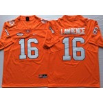 Clemson Tigers Orange #16 LAWRENCE