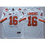 Clemson Tigers White #16 LAWRENCE