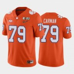 Men's Clemson Tigers #79 Jackson Carman Orange 2020 National Championship Game Jersey