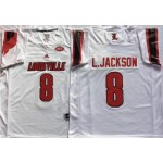 Louisville Cardinals White #8 L.JACKSON
