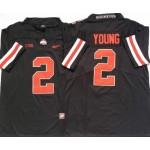 Ohio State Buckeyes #2 Chase Young Black Orange College Football Jersey