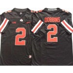 Ohio State Buckeyes #2 J.K. Dobbins Black Orange College Football Jersey