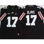 Ohio State Buckeyes #17 Chris Olave Black Limited Stitched College Jersey