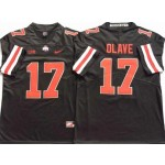 Ohio State Buckeyes #17 Chris Olave Black Orange Limited Stitched College Jersey