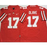 Ohio State Buckeyes #17 Chris Olave Red College Football Jersey