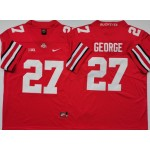 Ohio State Buckeyes #27 Eddie George Red Nike College Football Jersey