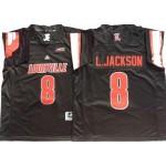 Louisville Cardinals #8 Lamar Jackson Black College Football Jersey