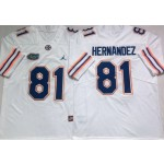 Florida Gators #81 Aaron Hernandez White College Football Jersey