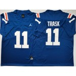 Florida Gators #11 Kyle Trask Blue Throwback College Football Jersey