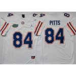 Florida Gators #84 Kyle Pitts White College Football Jersey