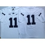 Men's Penn State Nittany Lions #11 Micah Parsons White jersey without name