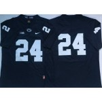 Men's Penn State Nittany Lions #24 Miles Sanders NCAA Navy Blue Stitched Jersey Without Name
