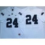 Men's Penn State Nittany Lions #24 Miles Sanders NCAA White Stitched Jersey Without Name