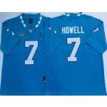 North Carolina Tar Heels #7 Sam Howell Blue College Football Jerse